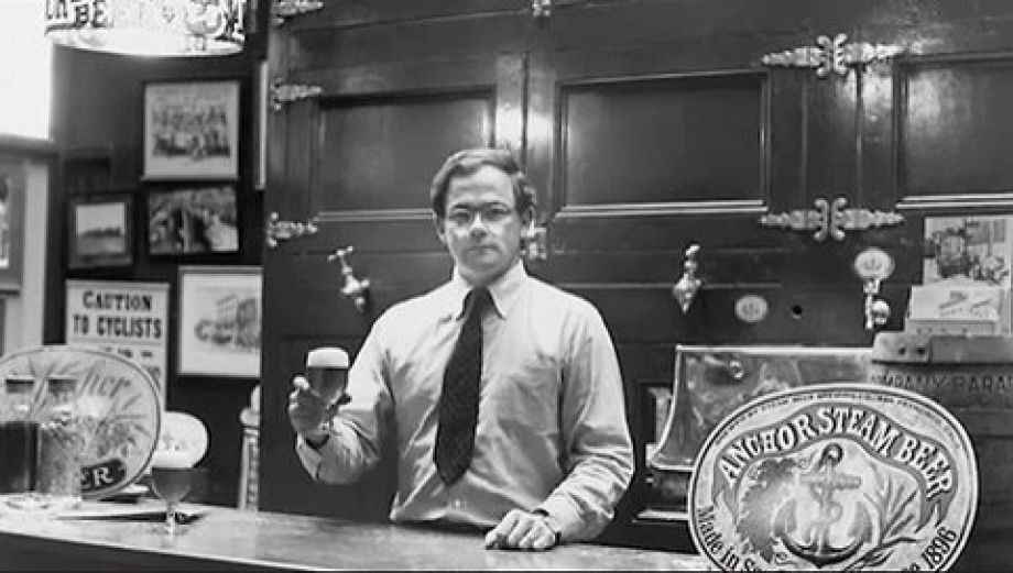 Fritz Maytag at Anchor Brewing Co. in 1965, the year he bought the near-bankrupt brewery.