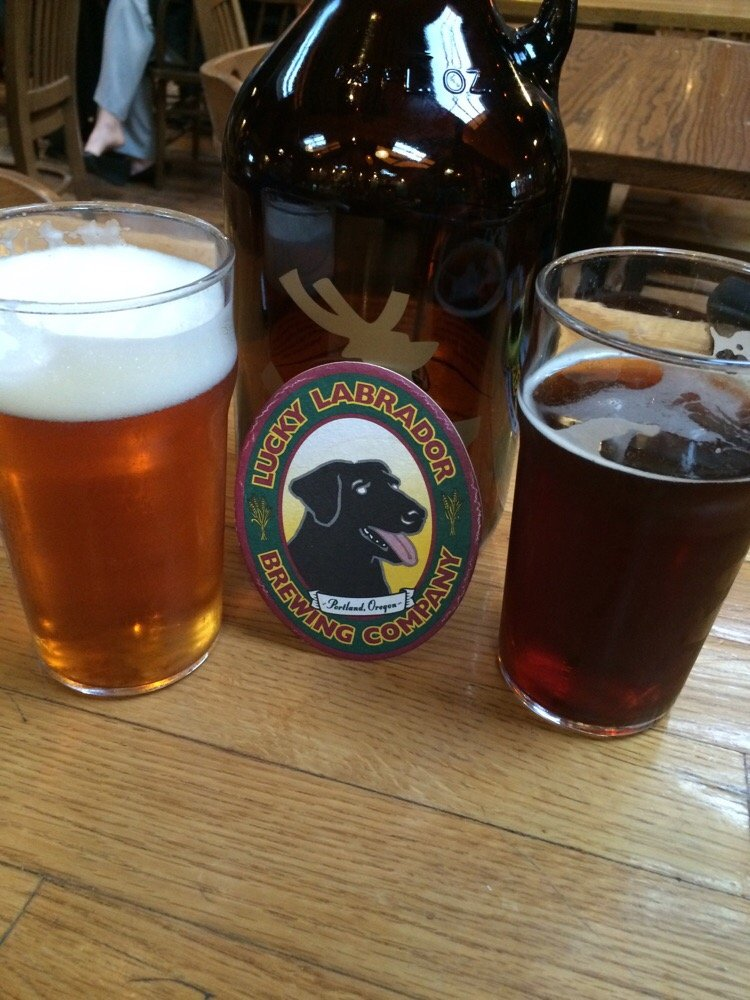 Super Dog IPA (Left) and Reggie's Red (Right)